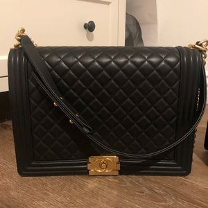 Authentic large le boy bag Chanel